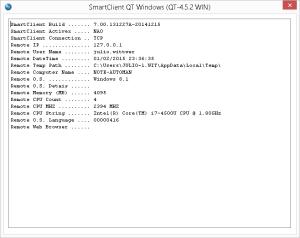 Exemplo da execução do programa U_RmtDet