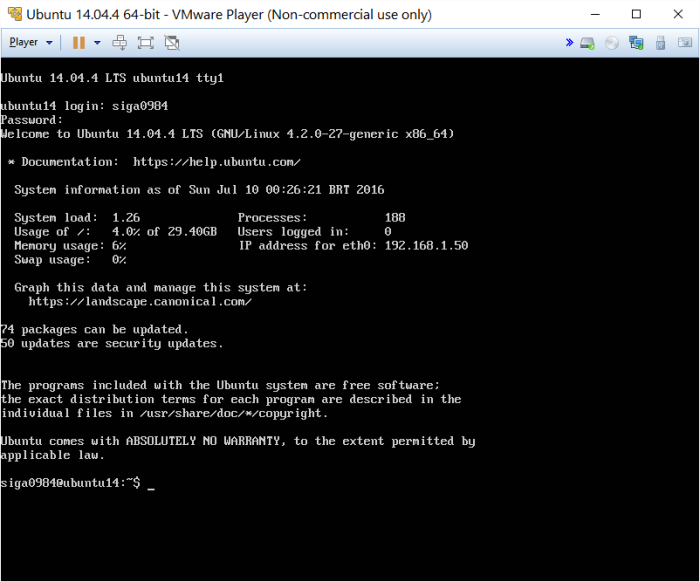 Ubuntu 14 Start